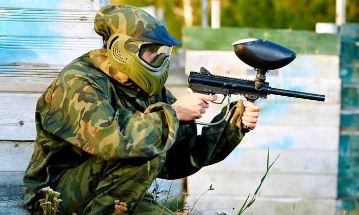 Paintball Hotline - Multiple Locations: Paintball with Full-Day Admission and All Equipment for 5 or 10 from Paintball Hotline (50% Off)