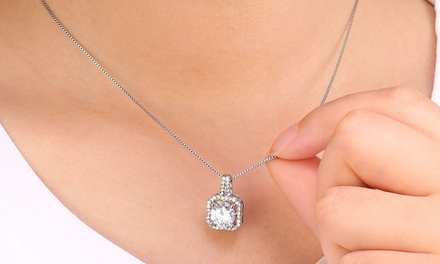 Halo Necklace with Crystals from Swarovski® from £7