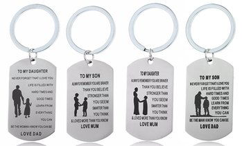 Parent to Child Engraved Keychain