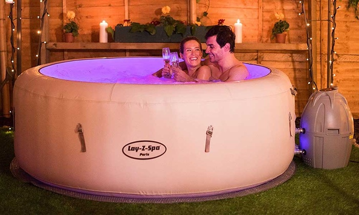 lay z spa paris hot tub groupon goods. Black Bedroom Furniture Sets. Home Design Ideas