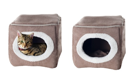 Cozy Cave Enclosed Cube Pet Bed