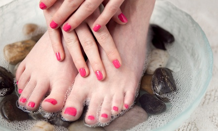 One or Two Shellac Spa Manicures with Spa Pedicures at Head to Toe Salon and Spa (Up to 56% Off)