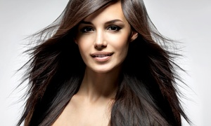 Jus' Hair Organic Salon: Haircut with Optional Conditioning, Highlights, or Keratin Treatment at Jus' Hair Organic Salon (Up to 66% Off)