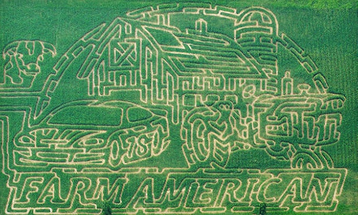 Country Corn Maze - Venice: Corn-Maze Visit for Two Adults or Two Adults and Two Children at Country Corn Maze (Up to Half Off)