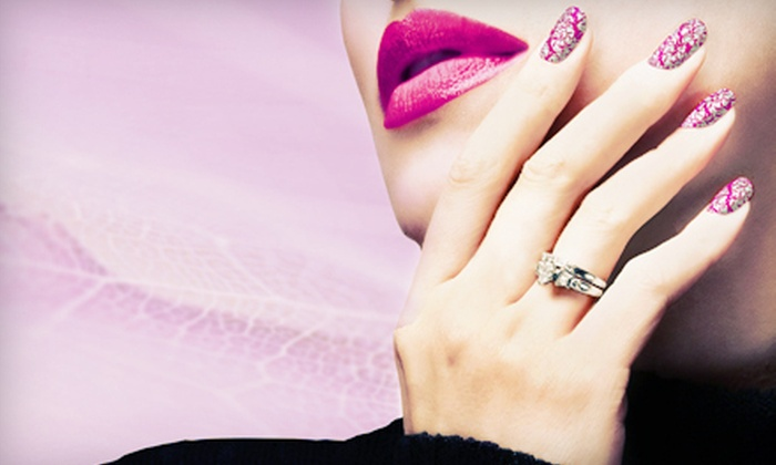 New Day Day Nail - Lower East Side: One or Three Mani-Pedis at New Day Day Nail (Up to 44% Off)