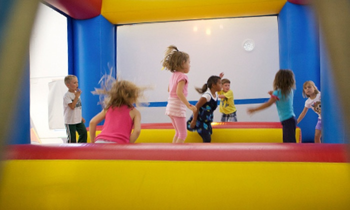 Bounce U Up - Walker: 5 or 10 Inflatable Playground Visits to Bounce U Up in Plainfield (51% Off)