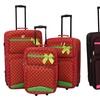 3-Piece Argo Upright Polka Dot Luggage Set