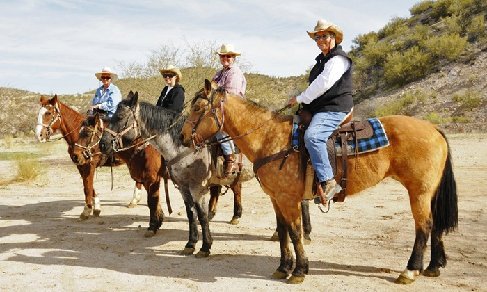 Cowboy Way Adventures - Multiple Locations: Horseback Trail Ride for Two or Moonlight or Sunset Ride for Two at Cowboy Way Adventures (Up to 54% Off)