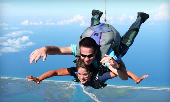 Skydive Sebastian - Sebastian: $125 for a Tandem Skydiving Jump with T-shirt from Skydive Sebastian ($215 Value)