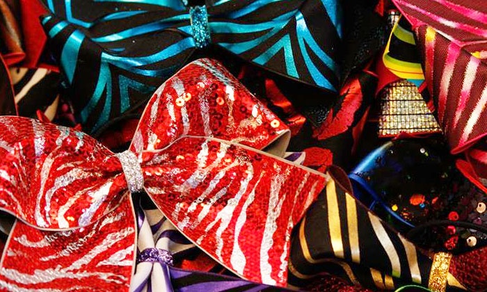 8 Count Cheer Gear - Canton: Cheerleading Hair Bows at 8 Count Cheer Gear (50% Off). Two Options Available.