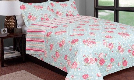 Home & Main 3-Piece Contemporary Reversible Printed Quilt Sets