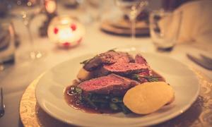 Amasra Restaurant: 3-Gänge-Menü mit bei 800 °C gegrilltem Steak, Wein und Live-Piano-Musik für Zwei im Amasra Restaurant (27% sparen*)