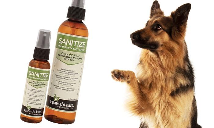 Apawthikare Sanitize Paw Spray: 2 Fl. Oz. or 8 Fl. Oz of Apawthikare Sanitize Paw-Disinfectant Spray (Up to 52% Off). Free Returns.
