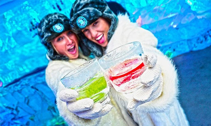 Minus 5 Ice Bar - New York Hilton Midtown: Admission for Two, or Admission for Two or Four with Framed Photos at Minus 5 Ice Bar (Up to 42% Off)