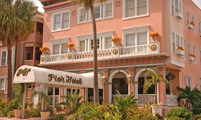 The Pier Hotel - Downtown St. Petersburg: $85 for a One-Night Stay for Two with a Bottle of Wine and Breakfast at The Pier Hotel (Up to $277.65 Value)