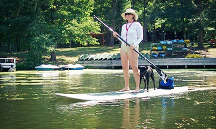 Dells Watersports - Multiple Locations: Half-Day Paddleboard Rental or 90-Minute Paddleboard Lesson and Tour from Dells Watersports (Half Off)