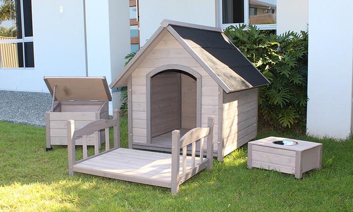 Cuccia per cani in legno di cedro groupon goods for Cuccia per cani ikea prezzi