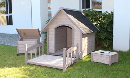 Cuccia per cani in legno di cedro groupon goods for Cucce per cani in offerta