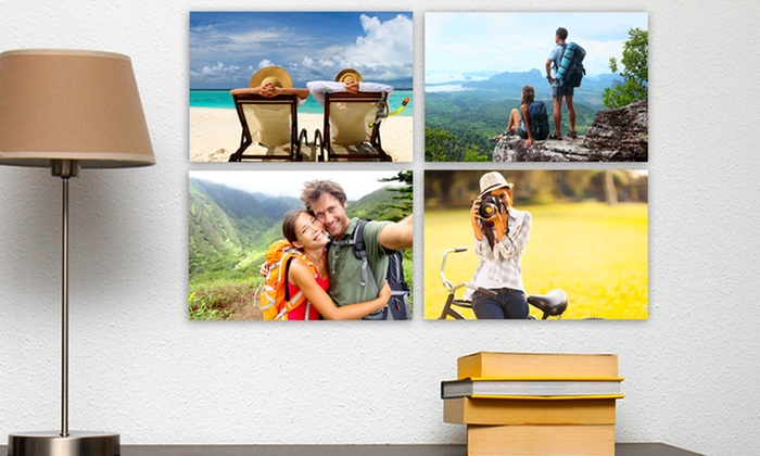 "Picture It On Canvas: $5 for One 7""x10"" Custom Photo Printed on Metal from Picture It on Canvas ($65 Value)"