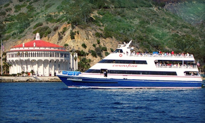 "Catalina Flyer - Balboa Pavilion: $35 for a Round-Trip Boat Ride to Catalina Island on the ""Catalina Flyer"" (Up to $70 Value)"