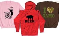 GROUPON: Women's Hunting Quote Sweatshirt or Hoodie Women's Hunting Quote Sweatshirt or Hoodie