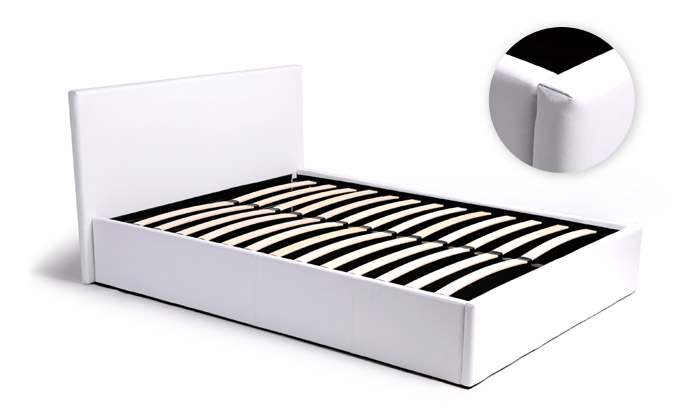 lit coffre simili cuir et matelas groupon shopping. Black Bedroom Furniture Sets. Home Design Ideas