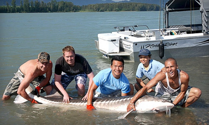 Lang's Fishing Adventures - Fernwood: $199 for a Four-Hour Sturgeon- or Salmon-Fishing Trip for Two from Lang's Fishing Adventures ($500 Value)