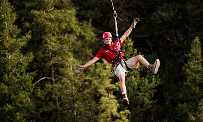 Adventures Out West - Manitou Springs: $50 for a Zipline Adventure from Adventures Out West ($85 Value)