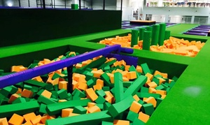 Jump Arena HO: Trampoline Park Family Pack with Pizza and Drinks for Up to Four People at Jump Arena, Four Locations (33% Off)