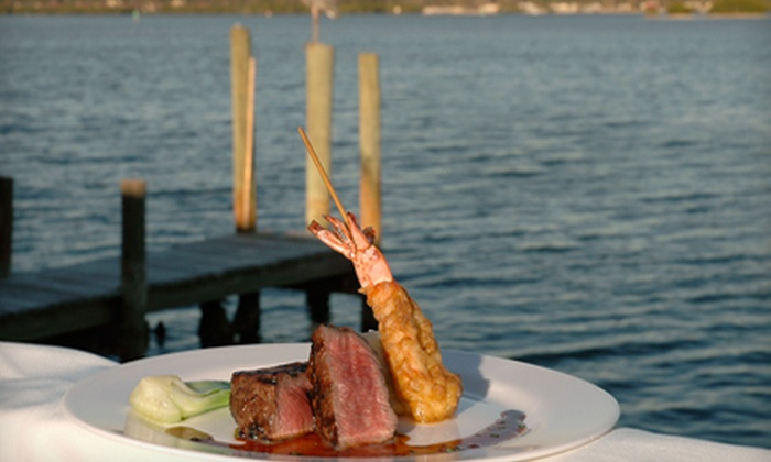Ophelia's on the Bay - Tortoise Estates: $15 for $30 Worth of Seafood, Continental Fare, and Drinks at Ophelia's on the Bay in Sarasota