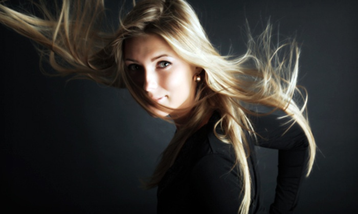 Iconic Salon - Downtown Royal Oak: Cut and Style with Highlights or Overlays, or Cut with Brazilian Blowout at Iconic Salon in Royal Oak (Up to 72% Off)