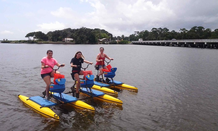 Hidden Treasure Tiki Bar & Grill - Port Orange: $14 for a Hydrobike Rental and Appetizer at Hidden Treasure Tiki Bar & Grill (Up to $27 Value)