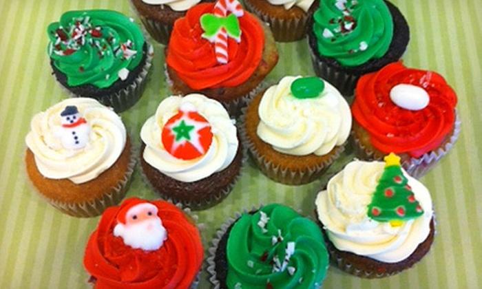 Ooh La La Cupcakes - Multiple Locations: $9 for One Dozen Assorted Christmas Mini Cupcakes at Ooh La La Cupcakes ($18 Value)