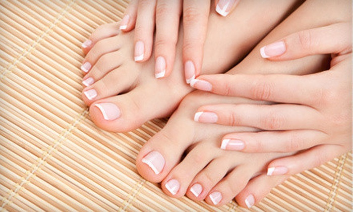 Che' Bella Nail Studio - Lemay: Classic Mani-Pedi or Shellac Mani and Vinylux Pedi at Che' Bella Nail Studio (Up to 52% Off)