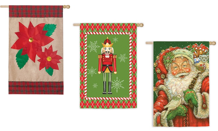 assorted christmas house flags 43x29 multiple options available