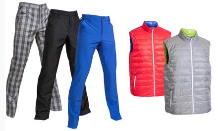 Herren-Golfbekleidung Backtee - Hose oder Weste in der Farbe und Größe nach Wahl