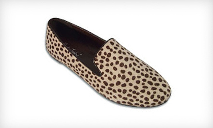 $24 for a Pair of BootsiTootsi Champagne Leopard Tuxedo Women's Casual Slip-Ons ($46 List Price). Free Shipping.