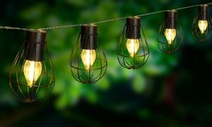Guirlande LED solaire 10 ampoules