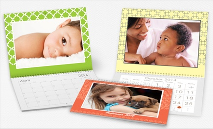 1 or 2 Custom Photo Wall Calendars with Stock Upgrades from Vistaprint from $5–$10