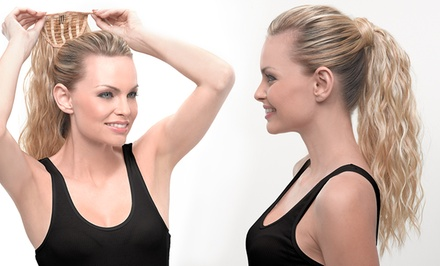 HairUWear Textured Attachable Hair Ponytail (Up to 54% Off). Multiple Colors Available.
