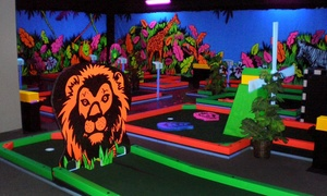Glowgolf: Mini Golf for Two with Optional Laser Maze Challenge, or Mini Golf for Four or Six at Glowgolf (Up to 50% Off)