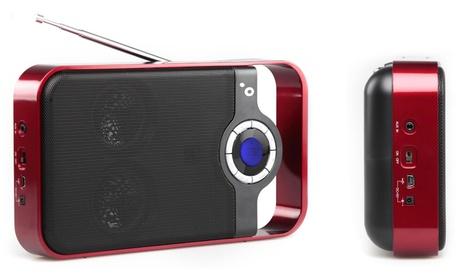 Radio portátil Sunstech con USB y lector de tarjetas SD