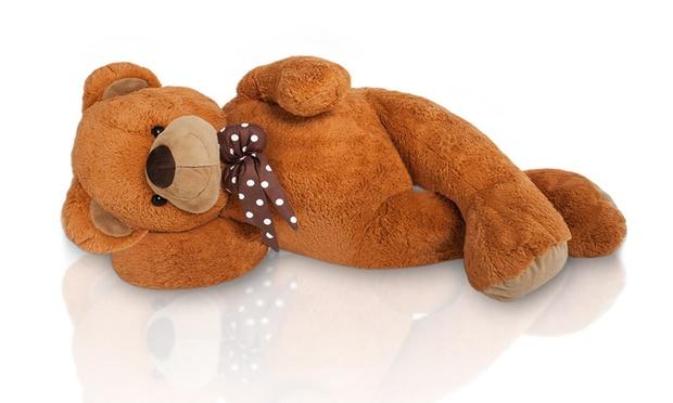 xxl kuschel teddyb r 100 oder 150 cm in hellbraun oder. Black Bedroom Furniture Sets. Home Design Ideas