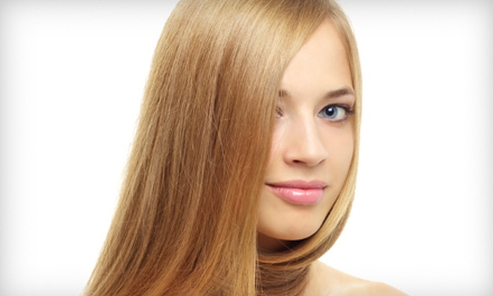 Pure Hair Lab - Gateway Plaza: Brazilian Blowout with Optional Cut and Partial Highlights at Pure Hair Lab (Up to 69% Off)