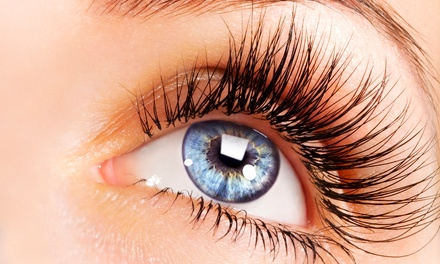 Full Set of Eyelash Extensions with Option for a Refill at Something Blue (Up to 61% Off)