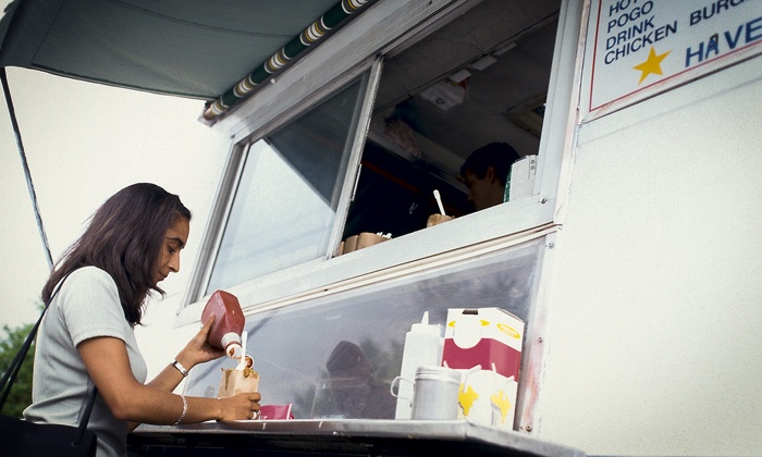 First Friday Food Truck Festival Season Pass - Murat Theatre at Old National Centre: First Friday Food Truck Festival at Old National Centre Parking Lot, May–October 2014 (Up to 48% Off)