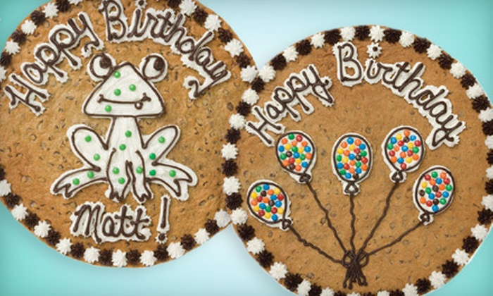 Great American Cookies - Multiple Locations: $14 for a 12-In. Round Cookie Cake at Great American Cookies (Up to $27.99 Value)