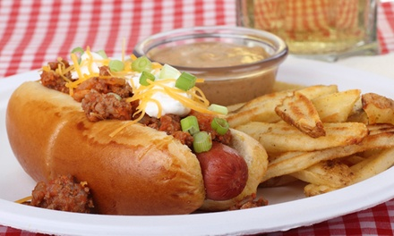 Hot Dog Meal at Pauly's Famous Franks N Fries (Up to 54% Off). Three Options Available.