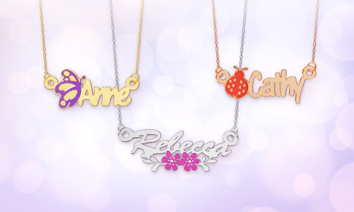 Personalized Kids Name Necklace Groupon Goods