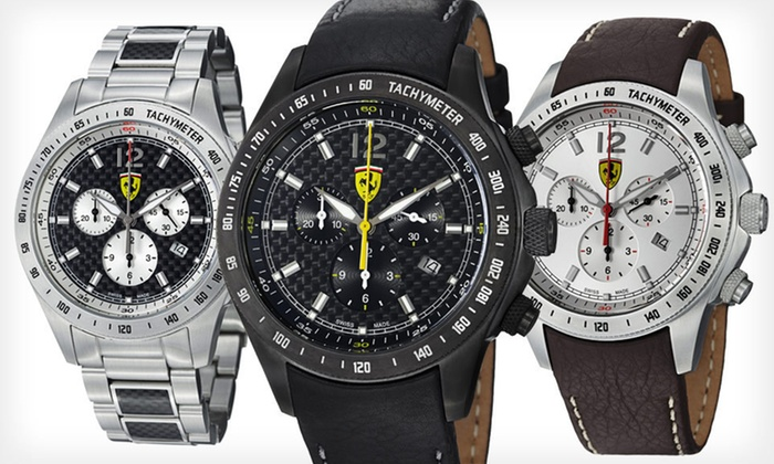 Ferrari Men's Watches: Ferrari Men's Watches (Up to 69% Off). Multiple Styles Available. Free Shipping.